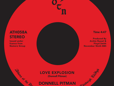 Donnell Pitman - Love Explosion 7 inch Vinyl main photo