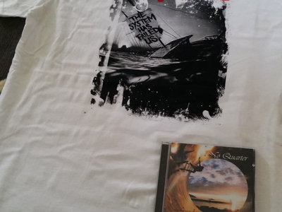 Men S White Sinking Ship Shirt Cd Copy Of Freedom And Digital