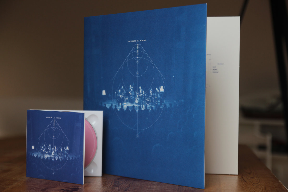 Doppler effect vestbo trio digipack cd in blueprint blue the album credits are shown as blueprints in the booklet and the tracklist is a blueprint graphic on the back malvernweather Gallery