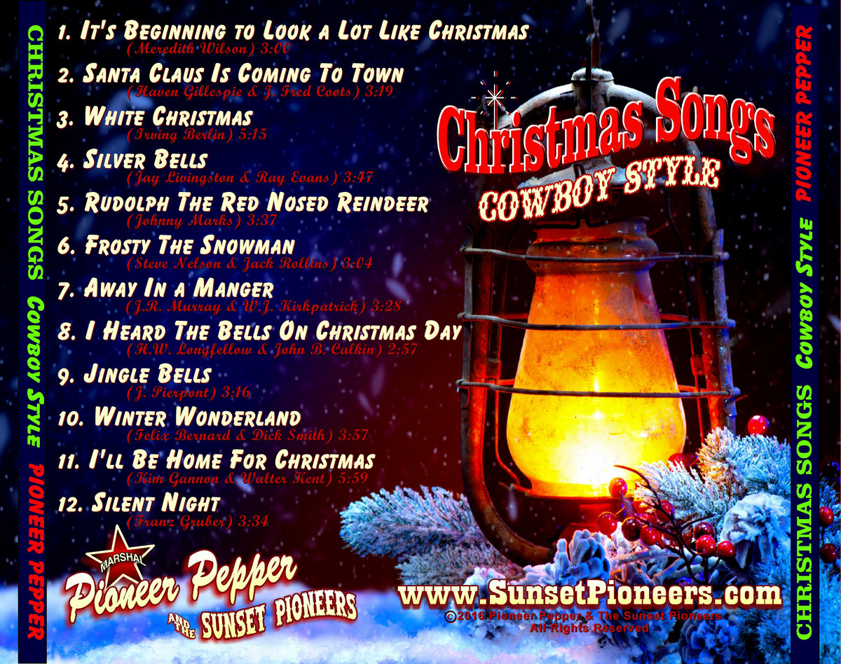Christmas Songs Cowboy Style | Pioneer Pepper & The Sunset Pioneers