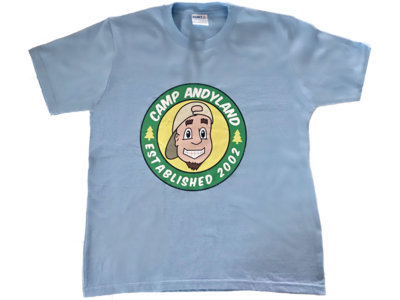 Camp Andyland T-shirt (Official) + free song! main photo