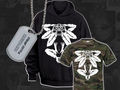 Killer camo combi deal! DEFORMER hoodie + tee + dog-tag main photo