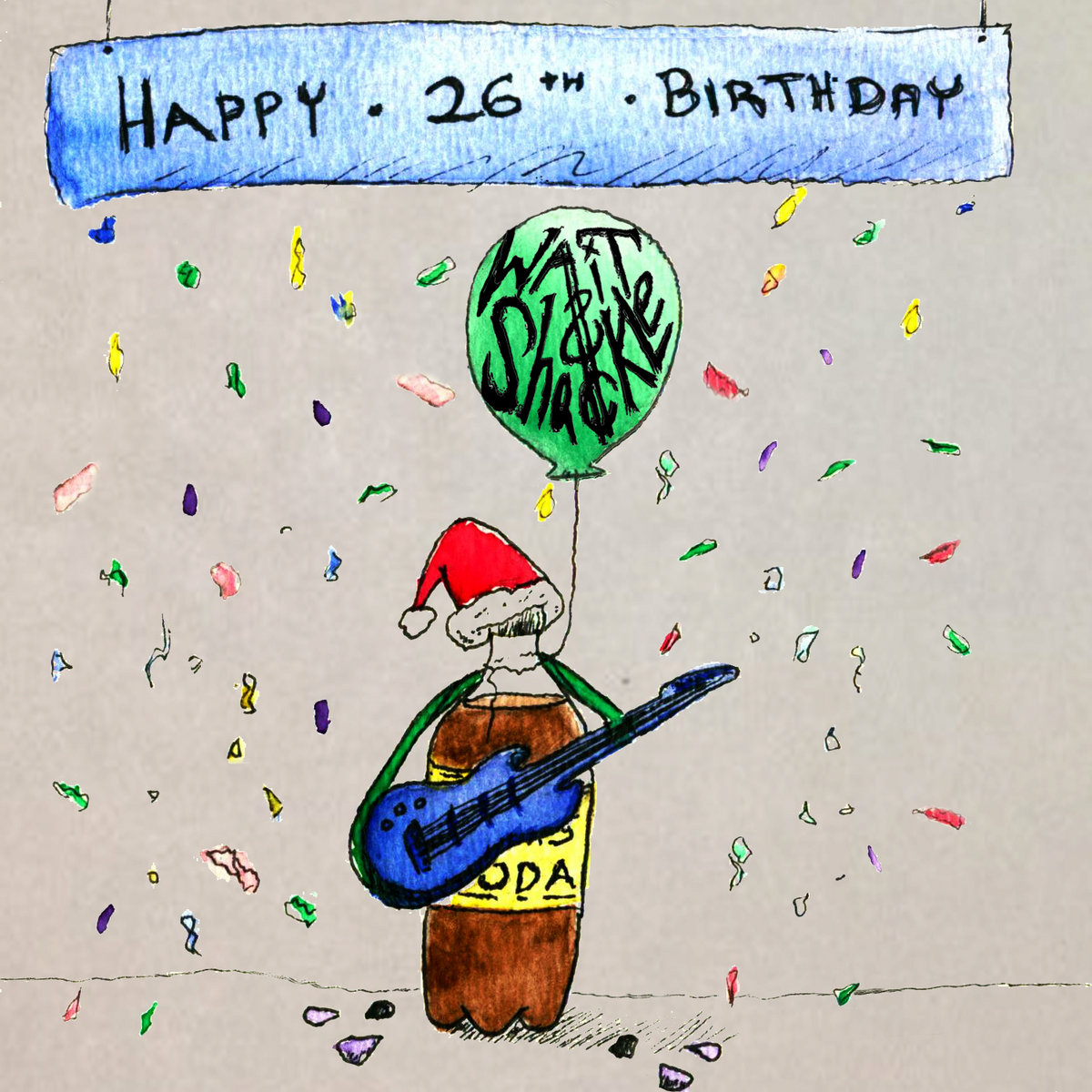 includes unlimited streaming of happy 26th birthday via the free bandcamp app