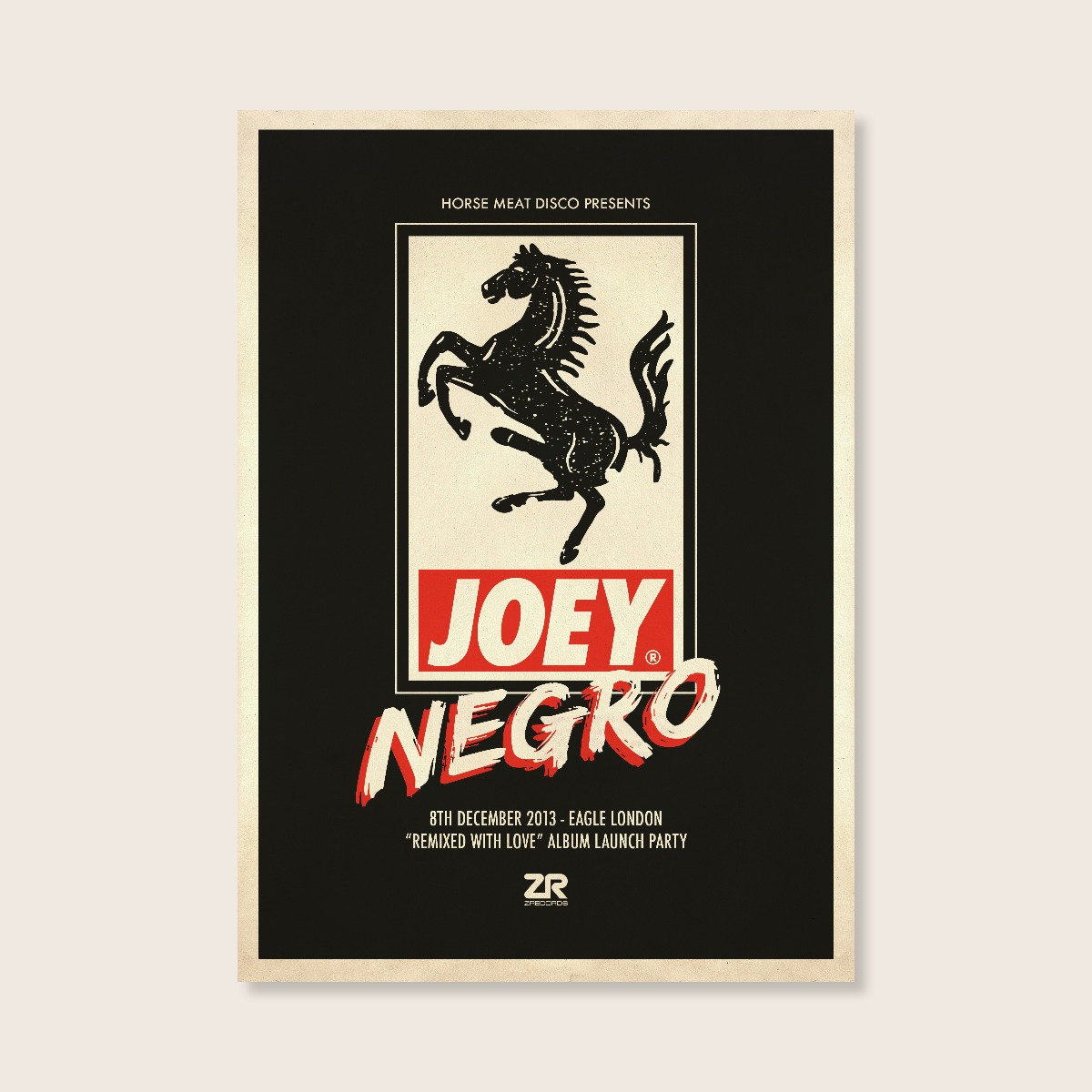 4675a8a3 Horse Meat Disco Poster – Joey Negro | Classic Music Company