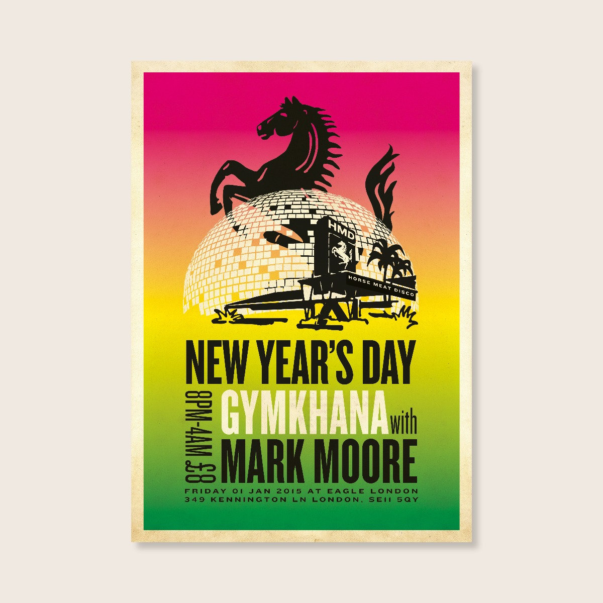 f4f14075 Horse Meat Disco Poster – GYMKHANA with Mark Moore | Classic Music ...