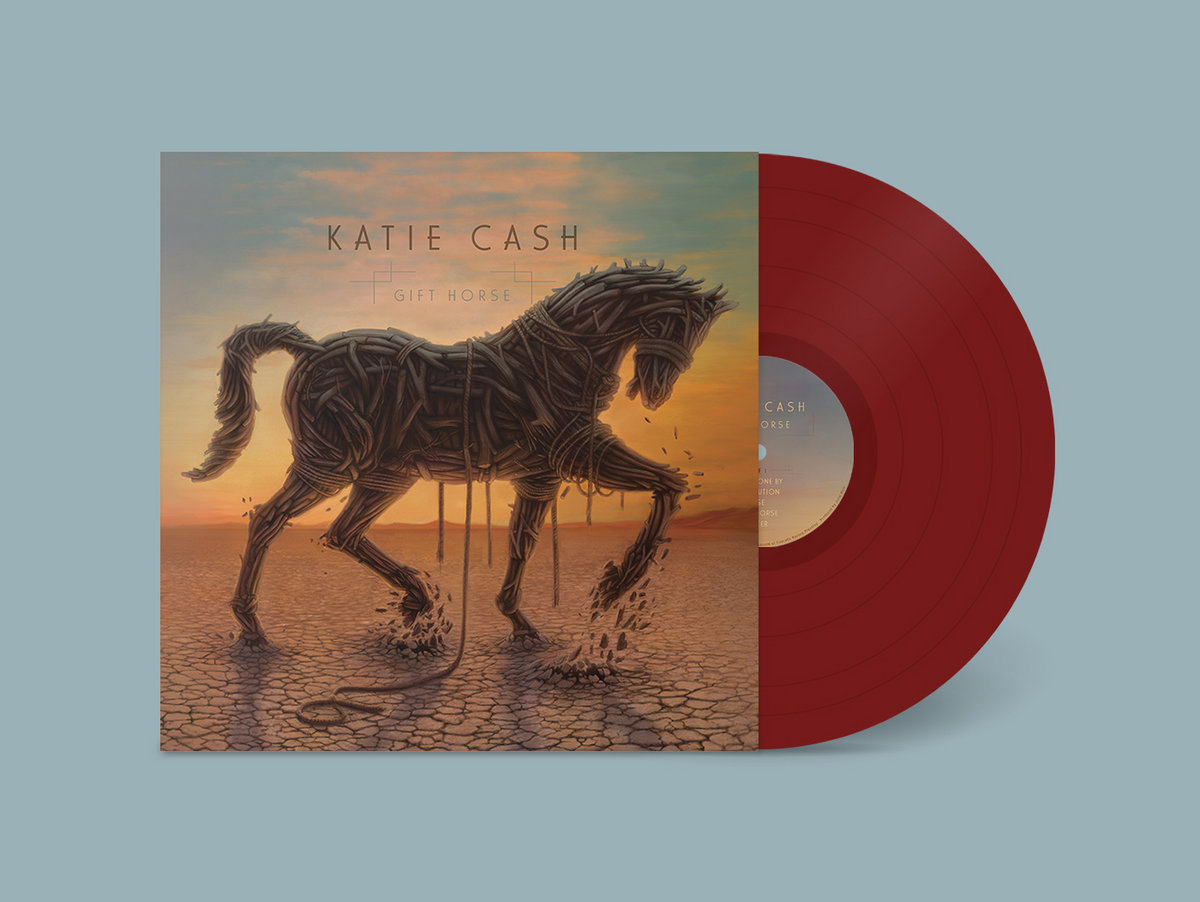 Gift horse katie cash translucent burgundy vinyl with insert that includes lyrics and detailed credits download card included includes unlimited streaming of gift horse via negle Images