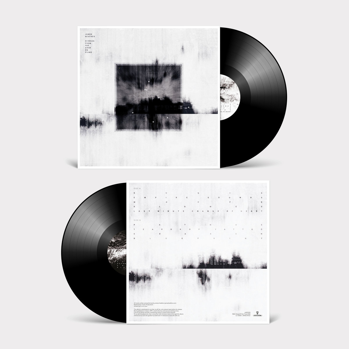 Blueprint james heather 180g black 12 vinyl housed in matte sleeve with spot gloss detail spine and black paper inners download code included artwork by suki s u k i malvernweather Choice Image