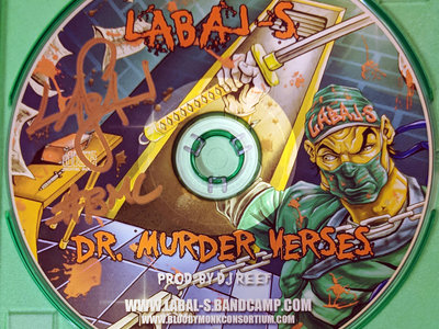 Dr. Murder Verses - Limited Edition CD signed by Labal-S main photo
