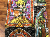 Handmade Stained Glass Link Fleece Blanket (Re-Stock!) photo