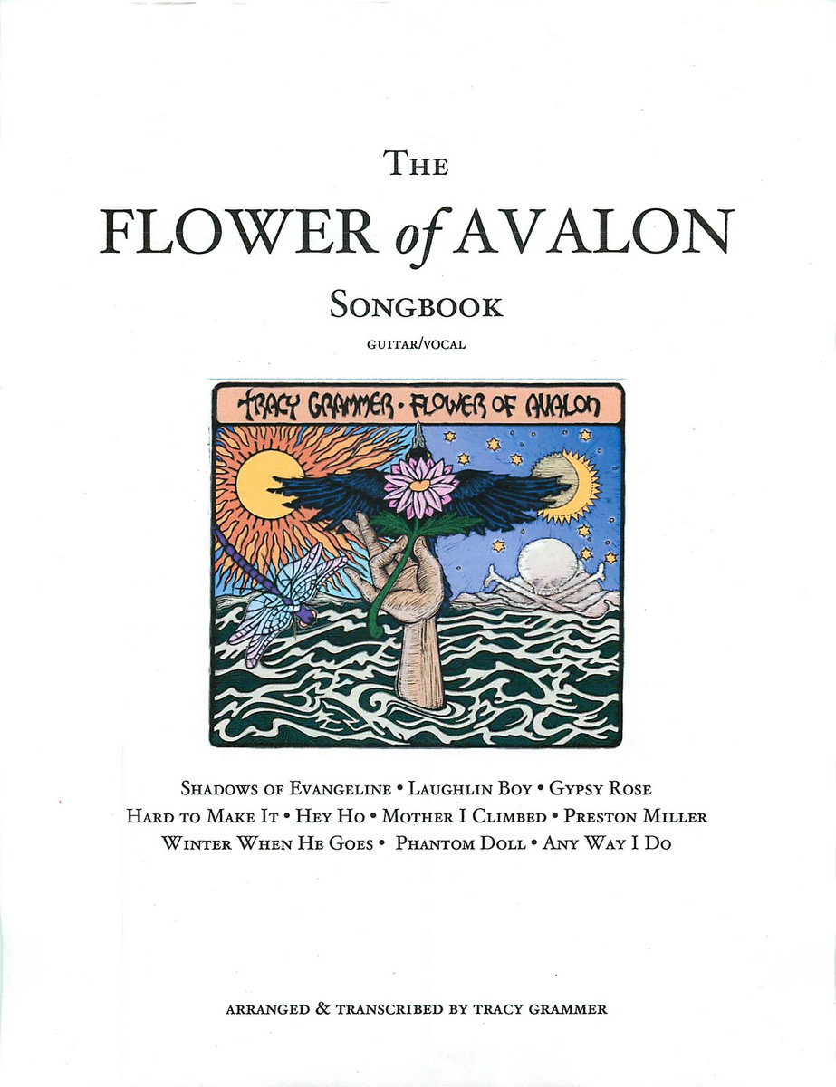 Guitar/vocal songbook with chords, notation, lyrics, and some instrumental  solos for the songs on the FLOWER OF AVALON CD. Arranged and transcribed by  Tracy ...