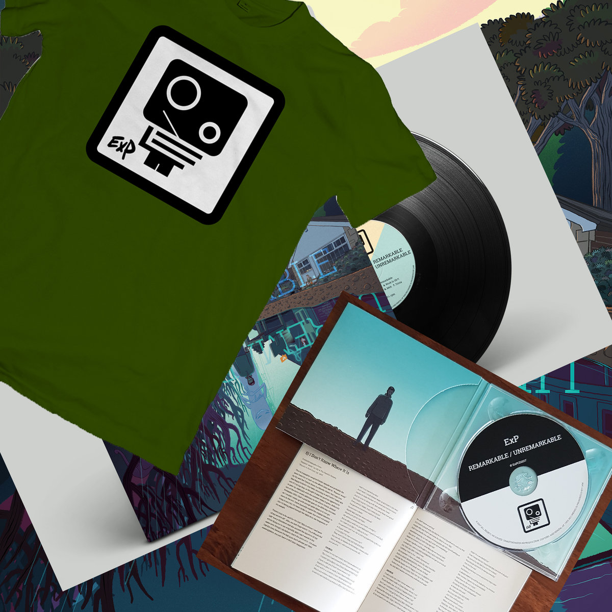 Vinyl Gatefold with lyrics and info. T-shirt in your choice of size. Play  your cards right you might get a sticker or two ;) Includes unlimited  streaming ...