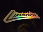 Limousine Logo Holographic Sticker photo