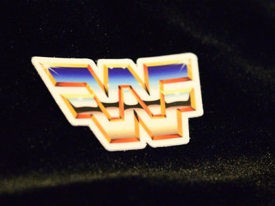 Wrestling Wave Logo Sticker main photo