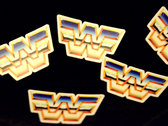 Wrestling Wave Logo Sticker photo