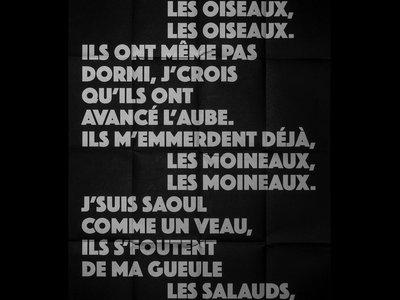 """Poster """"Les Moineaux"""" - Sérigraphie main photo"""