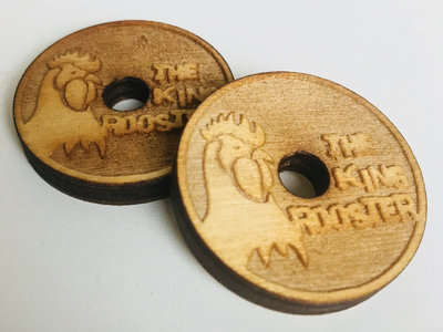 """Laser Etched """"King Rooster"""" Wooden 45 Adaptor main photo"""