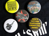 DON'T LET THE BASTARDS GRIND YOU DOWN! T-shirt & Set of Badges: FREE SHIPPING photo