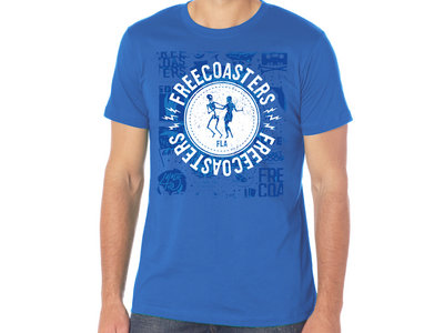 Freecoasters Dancing Skeleton Logo in Blue main photo