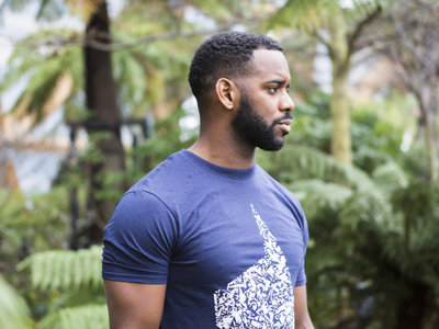 Don't Be Afraid T-Shirt - Blue / Black main photo