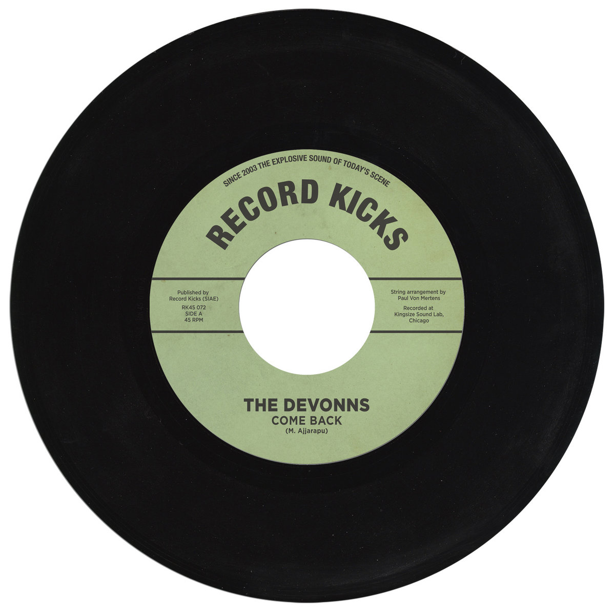 Image result for The Devonns - Come Back (Record Kicks) $8.99