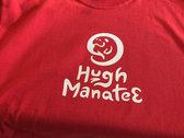 Hugh Manatee logo tee photo