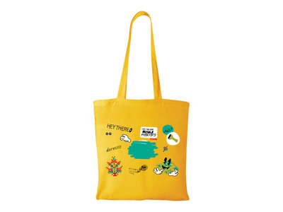 Laptop Stickers Yellow Tote Bag main photo