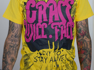 """DIY to Stay Alive"" T-shirt (Yellow) main photo"