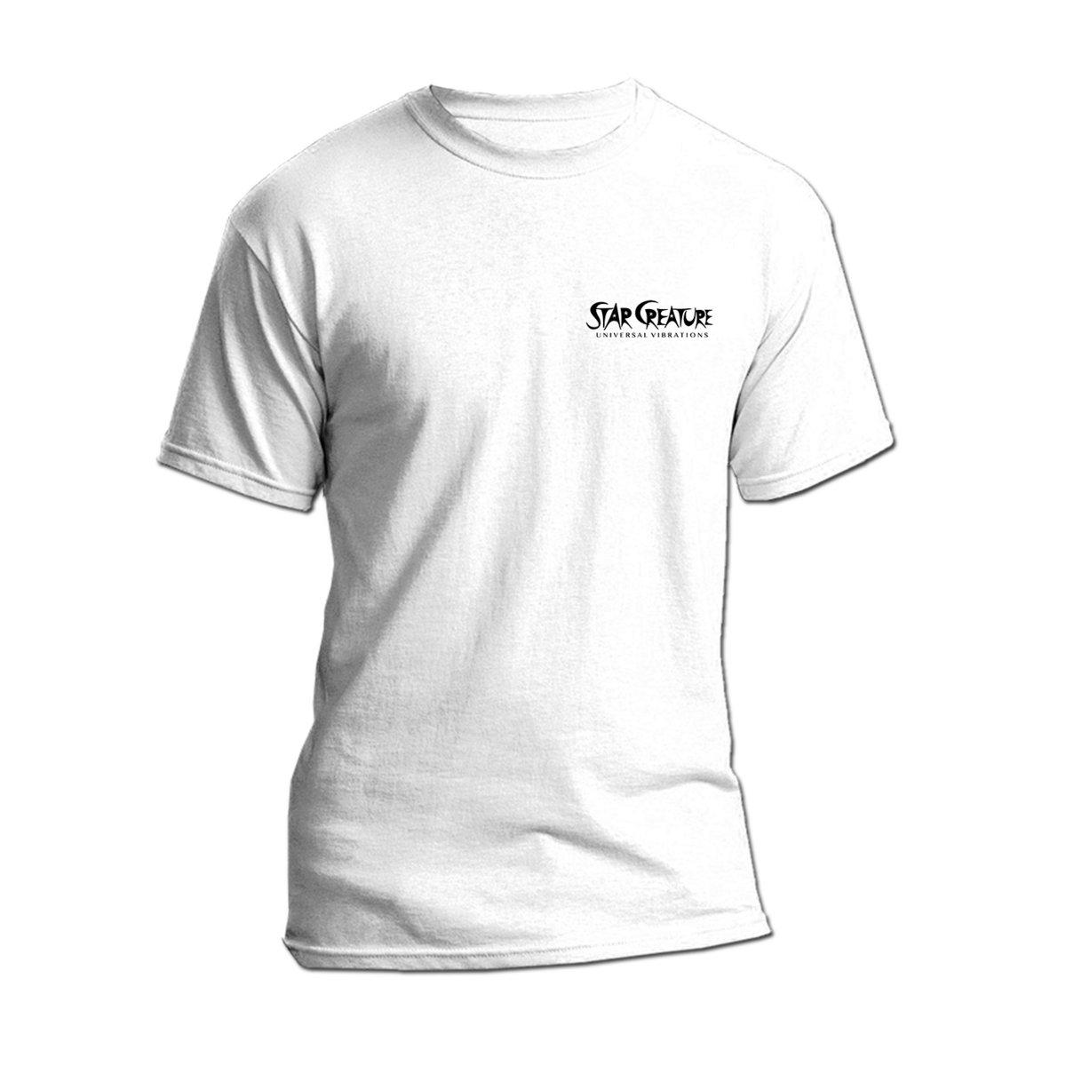 White Star Creature T-Shirt   Star Creature Universal Vibrations
