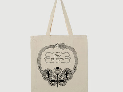 locally printed cotton tote bag with braided snake design main photo