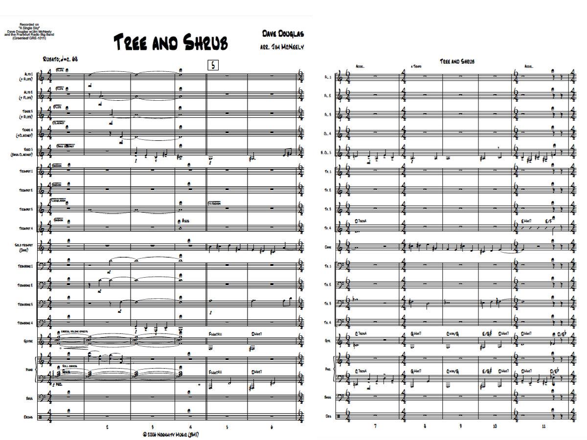 Dave Douglas Big Band | Tree & Shrub | Score & Parts (PDF) | Sheet Music