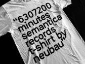 Semantica T-shirt. S/S 18. Neubau - 6307200 Minutes photo