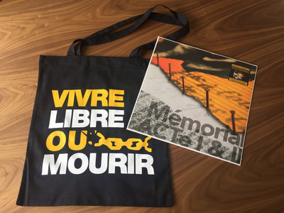 "Package Vinyle Connecté + Tote Bag ""Vivre Libre ou Mourir"" main photo"