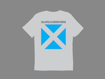 """All Art is Propaganda"" T-Shirt (Light Grey) main photo"