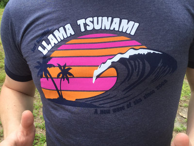 Surf Beautiful Llama Tsunami Tee main photo