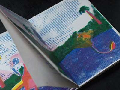 Livret / poster sérigraphié avec CD main photo
