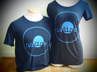 Nadine Records T-shirt (Blue Ink on Black Shirt) main photo