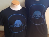 Nadine Records T-shirt (Blue Ink on Black Shirt) photo