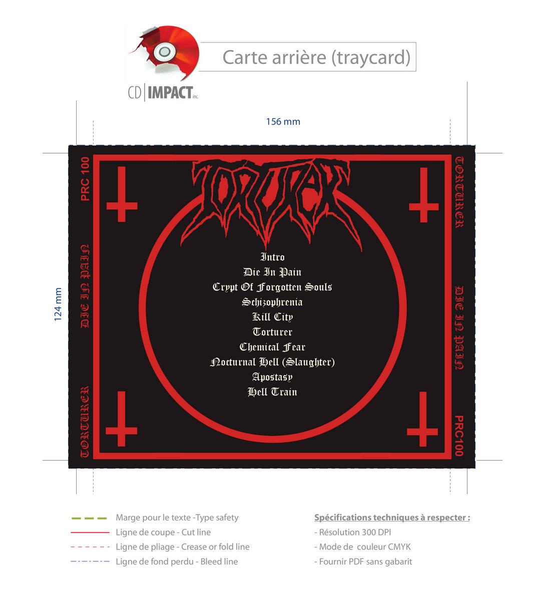 TORTURER Die in Pain CD | PRC MUSIC