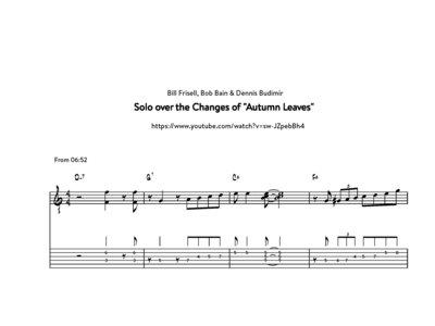 """Autumn Leaves"" - Bill Frisell, Bob Bain & Dennis Budimir (transcription) main photo"
