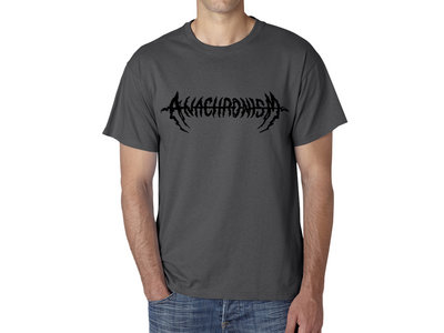 Black Logo on dark grey T-shirt main photo