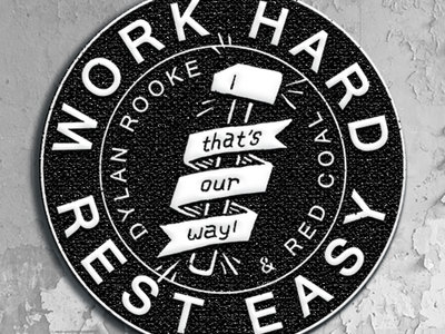 """Work Hard Hammer Embroidered Patch - 3"""" (Pre-Order) main photo"""