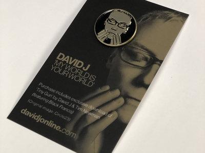 David J 'Death Mask' Enamel Pin w/ exclusive download main photo