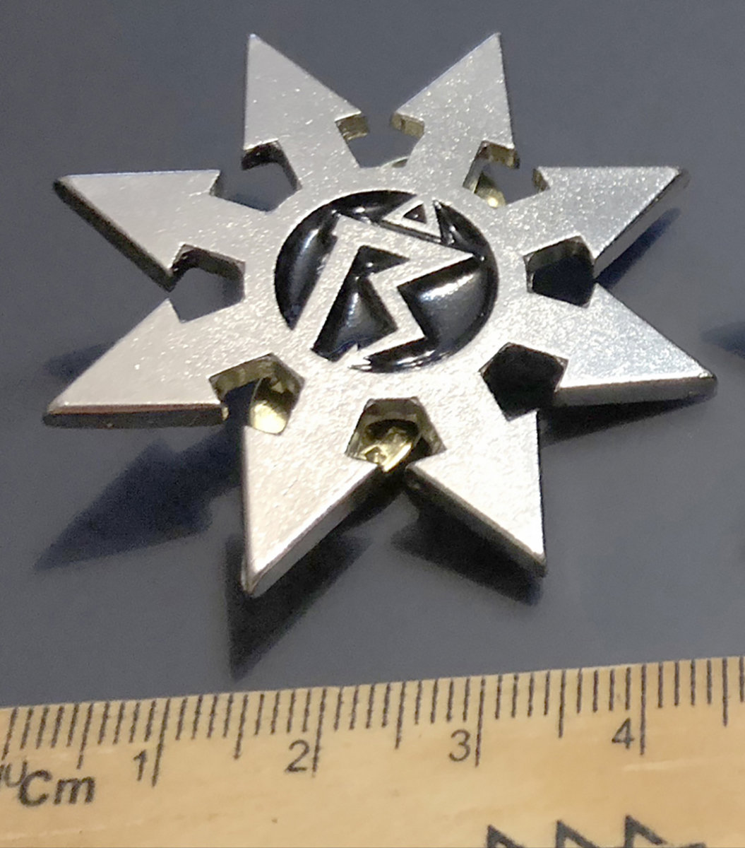 Pin 1 Chaos Star With Symbol Blank Nickel Netherbird Official