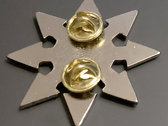 Pin 1: Chaos star with symbol blank (Nickel) photo