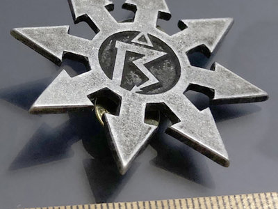 Pin 2: Chaos star with symbol matte (Pewter) main photo