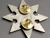 Pin 2: Chaos star with symbol matte (Pewter) photo