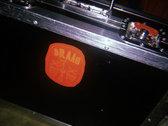 Vinyl Die Cut Stickers Red/Orange and Orange/Red photo