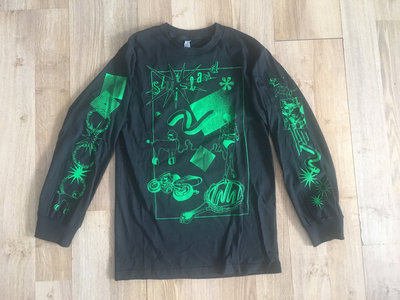 GREEN ON BLACK LONG SLEEVE main photo