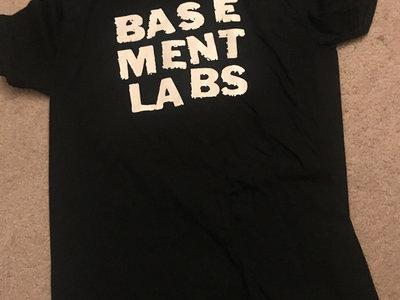 THE BASEMENT LABS T-shirt - White on Black main photo
