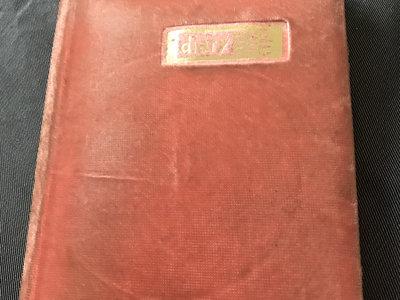Pink fake fur diary with original lyric notes main photo